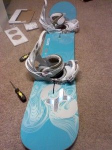 Burton X8 all set up!